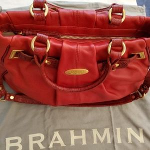 BRAHMIN - Brand New - Caroline Red Croc Cinches